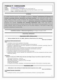 Mechanical Engineering Resume Examples Delectable Resume Sample For Experienced Mechanical Engineer New 48 Experienced