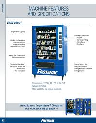 Vending Machines Dimensions Amazing FAST Solutions AllInclusivw Guide TO Fastenal's Vending Solutions