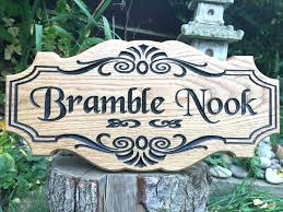 outdoor wooden signs for personalized plaques family name luxury garden personalised