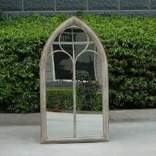 ellister church window garden mirror