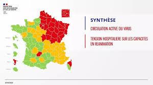 Francia dividida en tres colores por el coronavirus