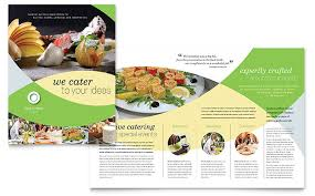 Catalog Template For Word Custom Food Catering Brochure Template Word Publisher