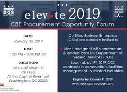 Elevate 2019 Cbe Procurement Opportunity Forum January 28