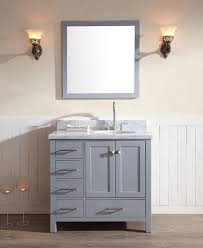 Modern Bathroom Vanity Lights Best Ariel Cambridge Single 48Inch Modern Bathroom Vanity Set Grey