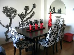 dining table accessories india. dining room decor table accessories floral fabric upholstered armless chair with espresso finished india e