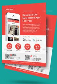 Design Flyer App 30 Effective Web Mobile Apps Flyer Psd Templates Bashooka