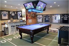 Sports man cave Basement Sports Man Cave Man Cave Know How How To Create The Ultimate Sports Man Cave Man Cave Know How