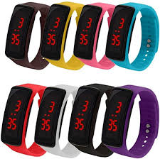 CdyBox 8 Pack Wholesale Men Women Kids <b>Digital</b> Wristwatch ...