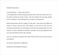Letter Of Recommendation For A Company Free 14 Free Business Reference Letters In Doc Pdf