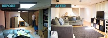 Woods Basement Systems Inc Basement Finishing Before And After - Ununfinished basement before and after