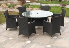 Round Rattan Table And 6 Chairs