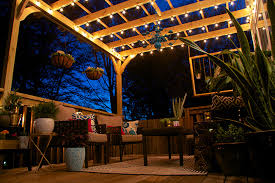 lighting a pergola. Inspiring Hanging Pergola Lighting And Glitter Goat Cheese String Lights Home Design With Ideas A