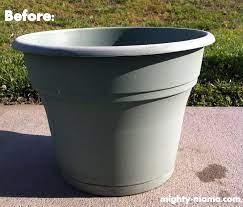 fabulous diy two tone painted pots that