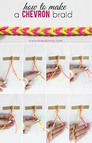Braided Bracelet Patterns Mesmerizing How To Make A Chevron Braided Bracelet Lines Across