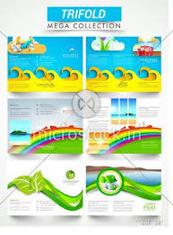 Presentation Flyers Mega Collection Of Ecological Three Fold Brochures Or Flyers Presentation For Business Purpose