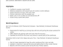 Warehouse Worker Job Description Resume – Foodcity.me