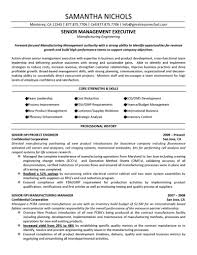 Cover Letter Senior Executive Manufacturing Engineer Engineering