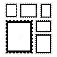 Stamps Template Blank Postage Stamps Templates With Place For Your Images Vector