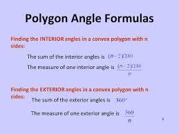 exterior angle formula for polygons. polygon angle formulas exterior formula for polygons r