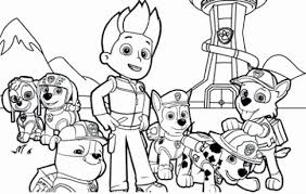 Paw Patrol Printable Coloring Pages Unique Paw Print Coloring Page