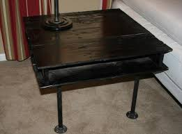 diy pallet iron pipe. Handmade Black Pallet And Iron Pipe Side Table Diy E