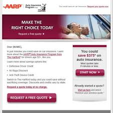 Aarp Car Insurance Quote Turning emails into salesAARP The Hartford Nymblesmith 72