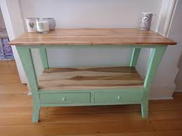 Beautiful Beachy Mint Green and Wood Table