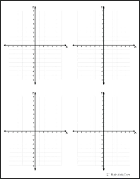 Free Grid Paper Printable Coordinate Graph Plane Math Aids