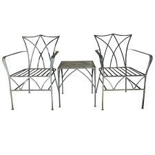 salterini wrought iron furniture. Pair Of Elegant Salterini Wrought Iron Chairs With Table Furniture U