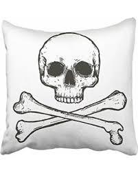 Cranium furniture Furniture Design Usart Black Cross Skull And Crossbones White Cranium Danger Dangerous Dead Death Pillowcase Cushion Cover 16x16 Islamveateizm New Savings On Usart Black Cross Skull And Crossbones White Cranium