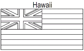 Small Picture Geography Blog Hawaii State Flag Coloring Page
