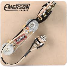 emerson custom 3 way prewired kit for fender telecasters 250k click to enlarge