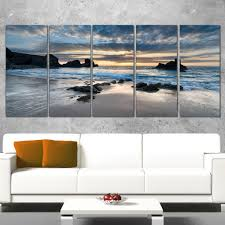 Designart 'Beautiful Porthcothan Bay' Modern Seashore Canvas Wall Art Print  - Free Shipping Today - Overstock.com - 20013361