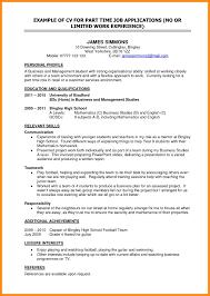 10 Sample Student Cv For Job Azzurra Castle Grenada