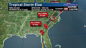 Elsa expected to exit South Georgia ...