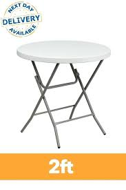 small round folding table plastic profile garden and chairs wooden argos