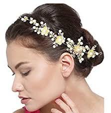 YouBella Floral Stone <b>Hair</b> Chain <b>Clip</b> with Pins for <b>Women</b>: Amazon ...