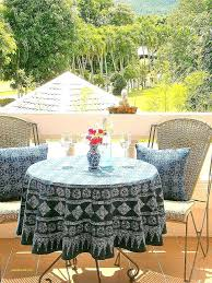 round outdoor tablecloth top tablecloths beautiful throughout prepare