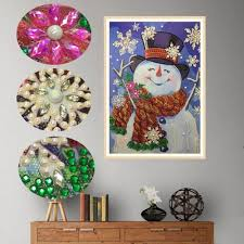 Special Shaped <b>Diamond</b> Painting Christmas snowman <b>snowflake</b> ...