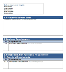 Document Template Word Free 6 Business Requirements Document Templates In Pdf Word