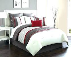 red quilt sets grey and comforter bed comforters burdy set black gray bedding