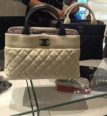 Chanel Quilted Bi-Color Handle Tote Bag | Bragmybag & Chanel Quilted Bi-Color Handle Tote Bag Adamdwight.com