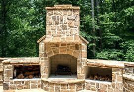 outside stone fireplace ideas