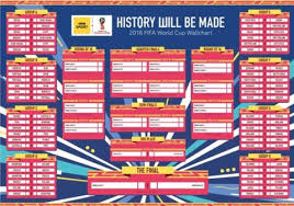 World Cup Planner Chart 2018 World Cup Wallchart Download Yours For Russia 2018 Bbc Sport