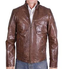 barbour men s brooklands leather jacket brown