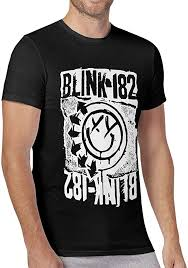 Trikahan Men Blink 182 EU Deck T-Shirt Happy Face ... - Amazon.com