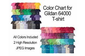 Color Chart For Gildan 64000 T Shirt Digital Color Chart