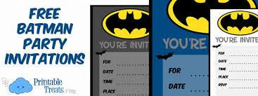 Print Birthday Invitation Batman Birthday Invitations To Print Printable Treats Com