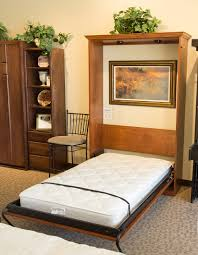 side mount twin murphy bed. Woodbury Park Murphy Bed In Alder Wood With Sunset Bay Finish Side Mount Twin Murphy Bed