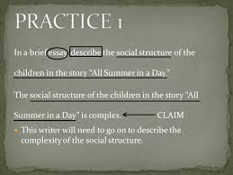 practicing the use of the r a p strategy a pirate s favorite  in a brief essay describe the social structure of the children in the story all